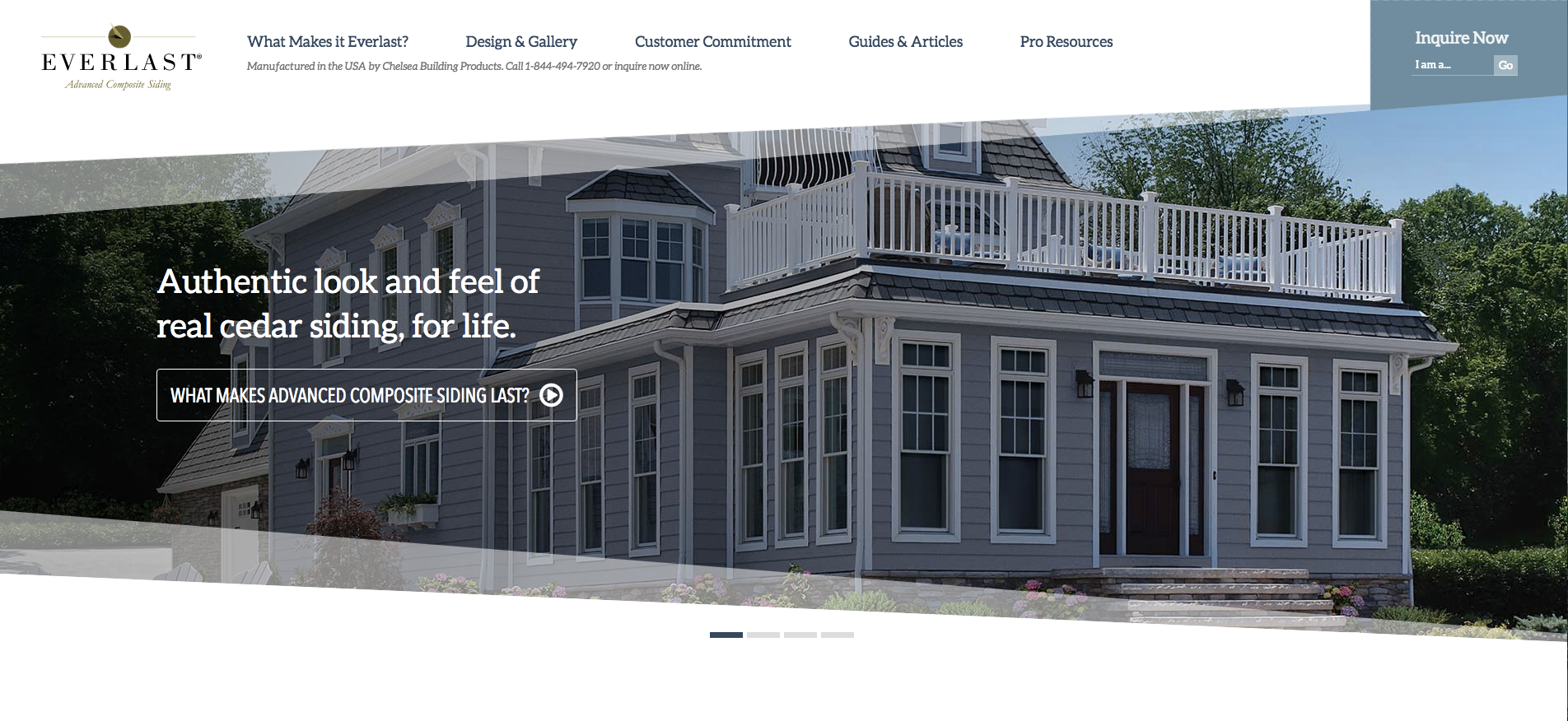 Chelsea Building Products Launches New Website For Its Everlast 174 Advanced Composite Siding